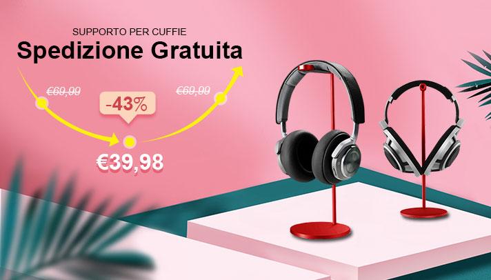 Supporto per Cuffia Auricolar Universale H01 Rosso