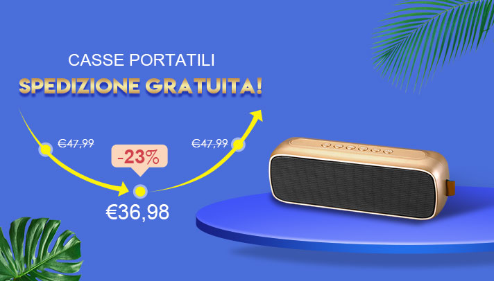 Altoparlante Casse Mini Bluetooth Sostegnoble Stereo Speaker S09 Oro