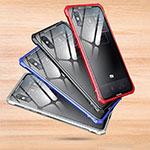 Custodia Silicone Trasparente Specchio Laterale Cover per Xiaomi Mi 8 Explorer Argento