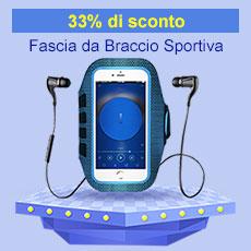 Fascia da Braccio Custodia Armband Corsa Sportiva Universale B17 Blu