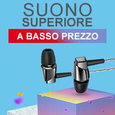 Auricolari Cuffia In Ear Stereo Universali Sport Corsa H17 Nero