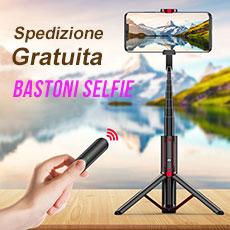 Sostegnotile Bluetooth Selfie Stick Allungabile Bastone Selfie Universale S27 Nero