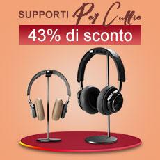 Supporto per Cuffia Auricolar Universale H01 Nero