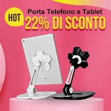 Supporto Tablet PC Flessibile Sostegno Tablet Universale H03 per Apple iPad Pro 10.5 Nero