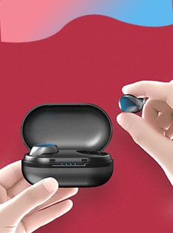 Auricolare Bluetooth Cuffie Stereo Senza Fili Sport Corsa H45 Nero