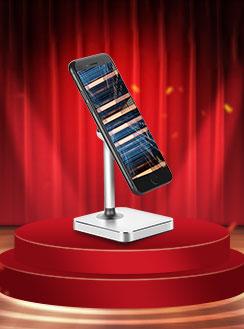 Sostegno Cellulari Magnetico Supporto Smartphone Universale Argento