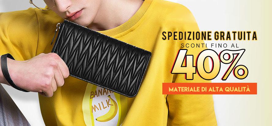 Borsetta Pochette Custodia In Pelle Universale H35 Nero
