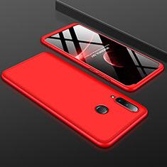 Custodia Plastica Rigida Cover Opaca Fronte e Retro 360 Dradi per Huawei P30 Lite Rosso