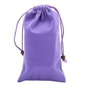 Sacchetto in Velluto Cover Marsupio Tasca Universale Viola
