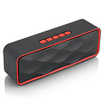 Altoparlante Casse Mini Bluetooth Sostegnoble Stereo Speaker S18 Rosso