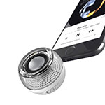 Altoparlante Casse Mini Bluetooth Sostegnoble Stereo Speaker S28 Argento