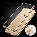 Cover Silicone Trasparente Ultra Sottile Morbida H06 per Apple iPhone 6S Oro