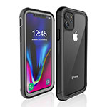 Custodia Impermeabile Silicone e Plastica Opaca Waterproof Cover 360 Gradi W02 per Apple iPhone 11 Nero