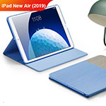 Custodia Portafoglio In stoffa con Stand per Apple iPad New Air (2019) 10.5 Cielo Blu