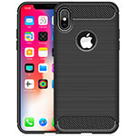 Custodia Silicone Cover Morbida Line per Apple iPhone Xs Max Nero