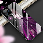 Custodia Silicone Gel Laterale Abito Ragazza Specchio Cover M01 per Apple iPhone 11 Pro Viola
