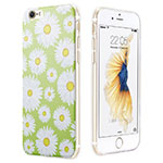Custodia Silicone Morbida Fiori per Apple iPhone 6S Verde