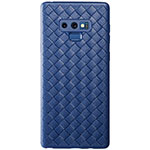 Custodia Silicone Morbida In Pelle Cover L01 per Samsung Galaxy Note 9 Blu