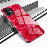 Custodia Silicone Specchio Laterale Cover T04 per Apple iPhone 11 Rosso