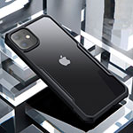 Custodia Silicone Trasparente Specchio Laterale Cover per Apple iPhone 11 Nero