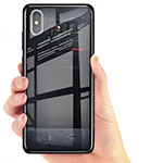 Custodia Silicone Trasparente Ultra Sottile Morbida T02 per Xiaomi Mi 8 Pro Global Version Nero