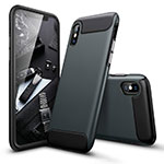 Custodia Silicone Ultra Sottile Morbida Opaca per Apple iPhone Xs Max Verde