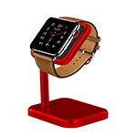 Supporto Di Ricarica Stand Docking Station per Apple iWatch 3 38mm Rosso