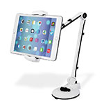 Supporto Tablet PC Flessibile Sostegno Tablet Universale H01 per Apple iPad Air 2 Bianco
