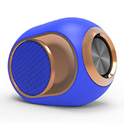 Altoparlante Casse Mini Bluetooth Sostegnoble Stereo Speaker K05 Blu