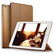 Cover Portafoglio In Pelle con Supporto L06 per Apple iPad Mini 2 Marrone