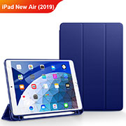 Cover Portafoglio In Pelle con Supporto per Apple iPad New Air (2019) 10.5 Blu