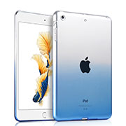 Cover Silicone Trasparente Ultra Sottile Morbida Sfumato per Apple iPad Air Blu