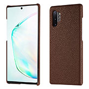 Custodia Lusso Pelle Cover P01 per Samsung Galaxy Note 10 Plus 5G Marrone