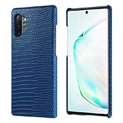 Custodia Lusso Pelle Cover P02 per Samsung Galaxy Note 10 Plus 5G Blu