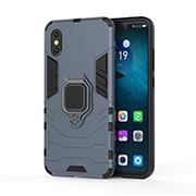 Custodia Silicone e Plastica Opaca Cover con Magnetico Supporto per Xiaomi Mi 8 Pro Global Version Blu