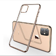 Custodia Silicone Trasparente Ultra Sottile Cover Morbida H03 per Apple iPhone 11 Oro
