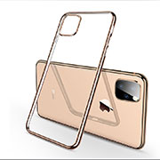 Custodia Silicone Trasparente Ultra Sottile Cover Morbida H03 per Apple iPhone 11 Pro Oro