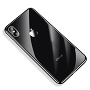 Custodia Silicone Trasparente Ultra Sottile Cover Morbida V03 per Apple iPhone Xs Max Nero