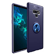 Custodia Silicone Ultra Sottile Morbida Cover con Magnetico Anello Supporto per Samsung Galaxy Note 9 Blu