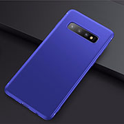 Custodia Silicone Ultra Sottile Morbida Cover S01 per Samsung Galaxy S10 Plus Blu