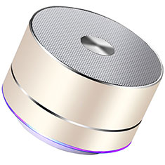 Altoparlante Casse Mini Bluetooth Sostegnoble Stereo Speaker K01 per Samsung Galaxy A01 Core Oro