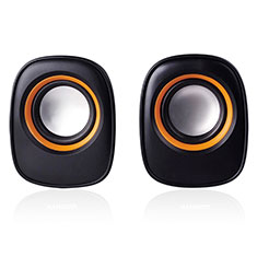 Altoparlante Casse Mini Bluetooth Sostegnoble Stereo Speaker K04 per Samsung Galaxy S6 Edge+ Plus SM-G928F Nero