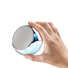 Altoparlante Casse Mini Bluetooth Sostegnoble Stereo Speaker S03 Argento