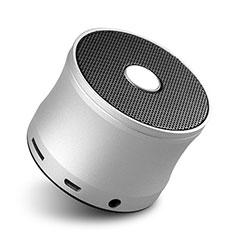 Altoparlante Casse Mini Bluetooth Sostegnoble Stereo Speaker S04 per Huawei Mate 30 Argento