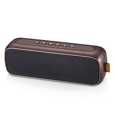 Altoparlante Casse Mini Bluetooth Sostegnoble Stereo Speaker S09 per Samsung Galaxy S21 Plus 5G Marrone