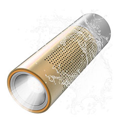 Altoparlante Casse Mini Bluetooth Sostegnoble Stereo Speaker S15 Oro