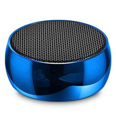 Altoparlante Casse Mini Bluetooth Sostegnoble Stereo Speaker S25 per Huawei Mate 30 Blu