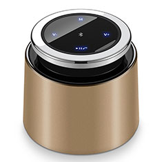 Altoparlante Casse Mini Bluetooth Sostegnoble Stereo Speaker S26 per LG Q52 Oro