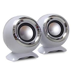 Altoparlante Casse Mini Sostegnoble Stereo Speaker per Huawei Mate 30 Bianco