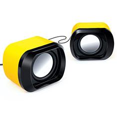 Altoparlante Casse Mini Sostegnoble Stereo Speaker per Huawei Mate 30 Giallo